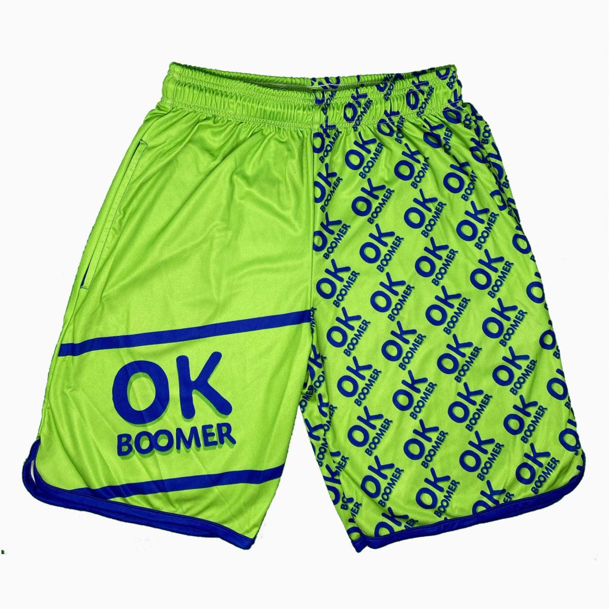 Pantaloncini  Lettering – Ok Boomer Verde