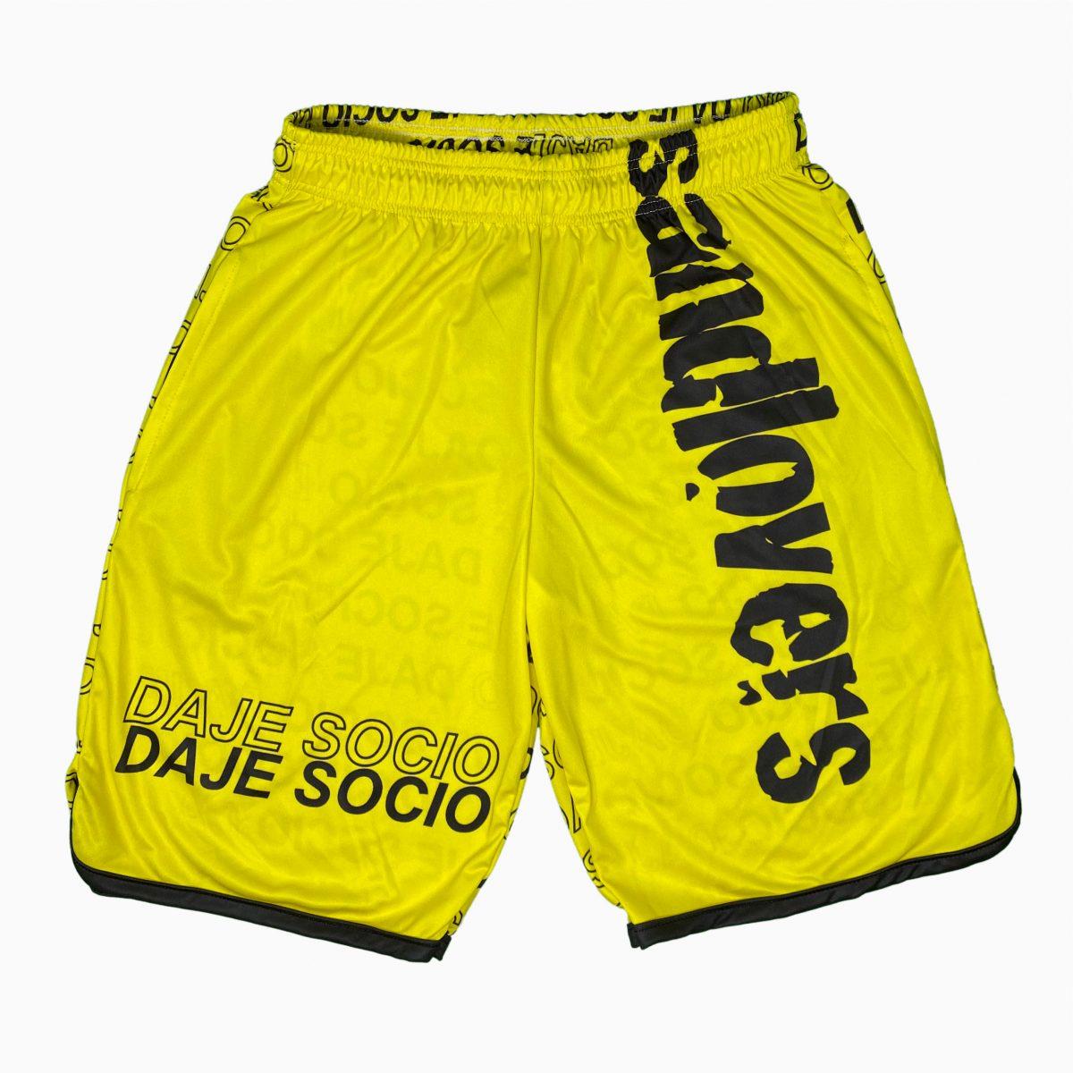 Pantaloncino Lettering – Daje Socio Giallo