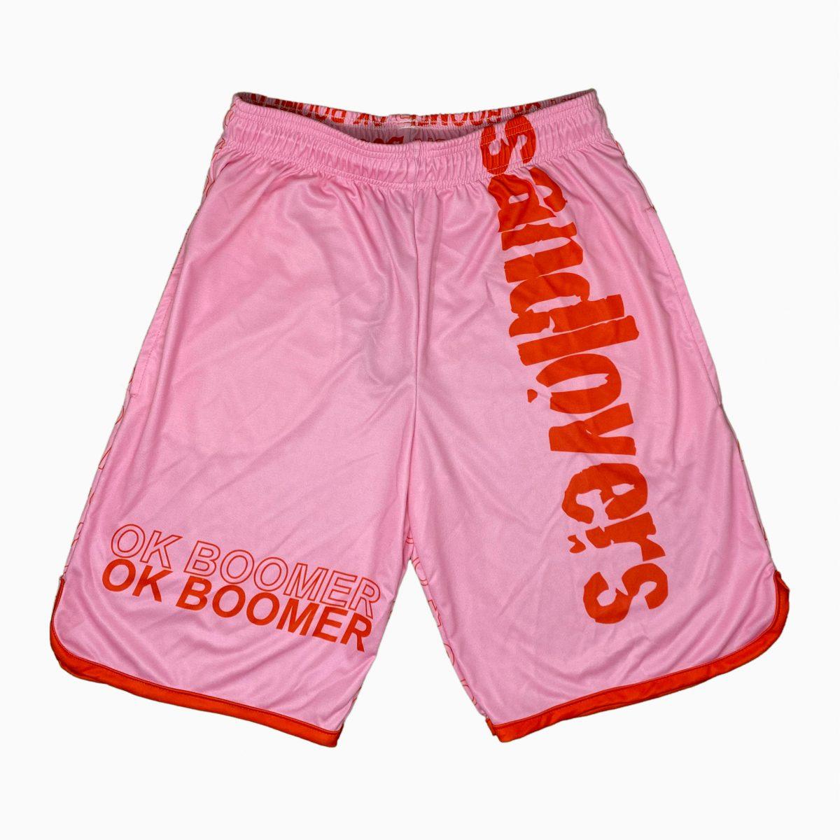 Pantaloncini Lettering – Ok Boomer Rosa